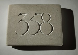 House number by Simon Burns-Cox