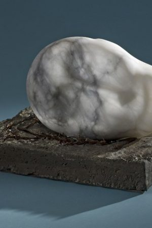 'I dreamed kind Jesus' - Wilfred Owen 1918 Italian alabaster barbed wire cncrete 30x35x23cm