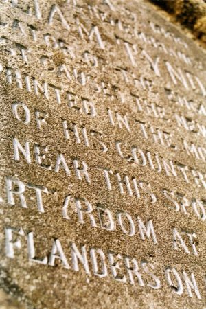 Restoration of Lettering Tyndale Monument
