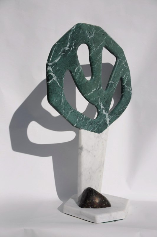 Woodland 3 - marble and polyphant