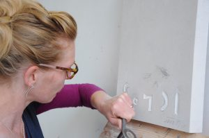 Stone Letter Carving Course September 2016
